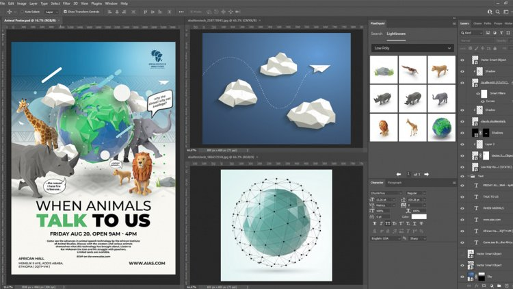 Low poly design in photoshop